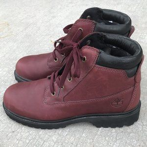 Timberland Women's 6-inch Leather Boots Burgundy